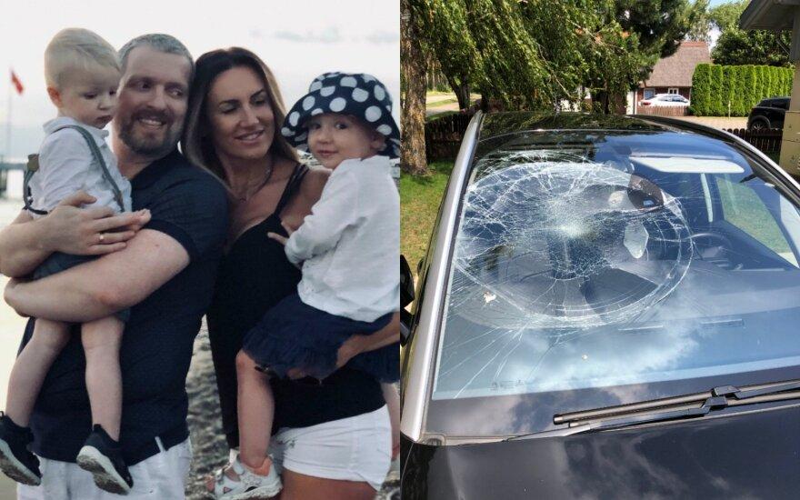 Katažina ir Deivydas Zvonkai su atžalomis pateko į avariją