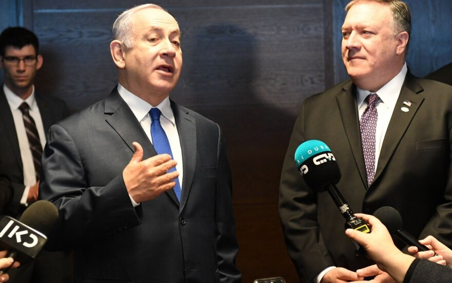 Benjaminas Netanyahu, Mike'as Pompeo