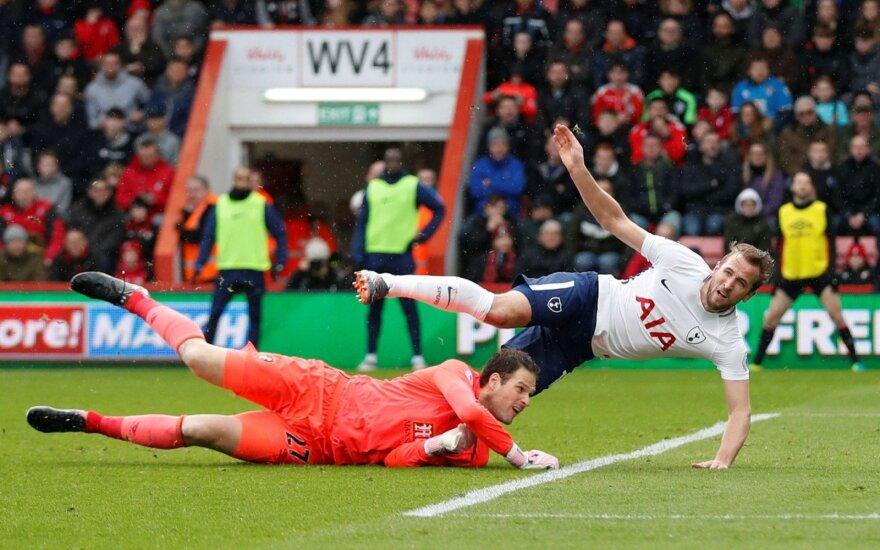 """Anglijoje – planinės """"Arsenal"""" ir """"Tottenham"""" pergalės bei Kane'o trauma"""