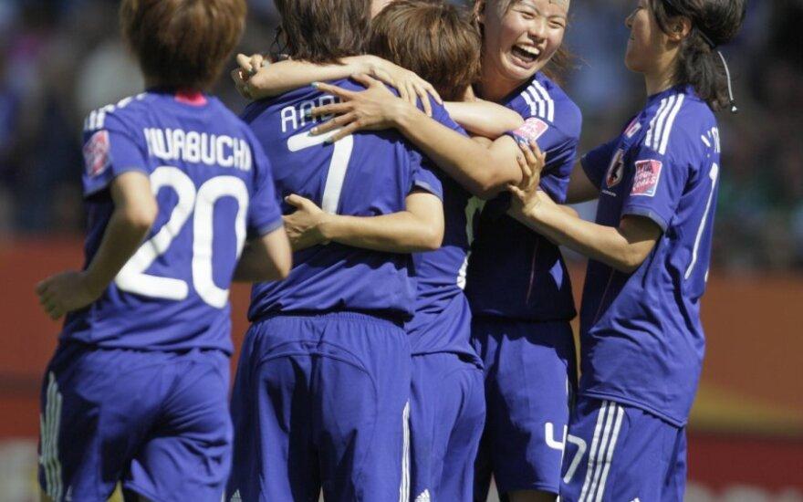 Japonijos futbolininkės iškovojo pergalę