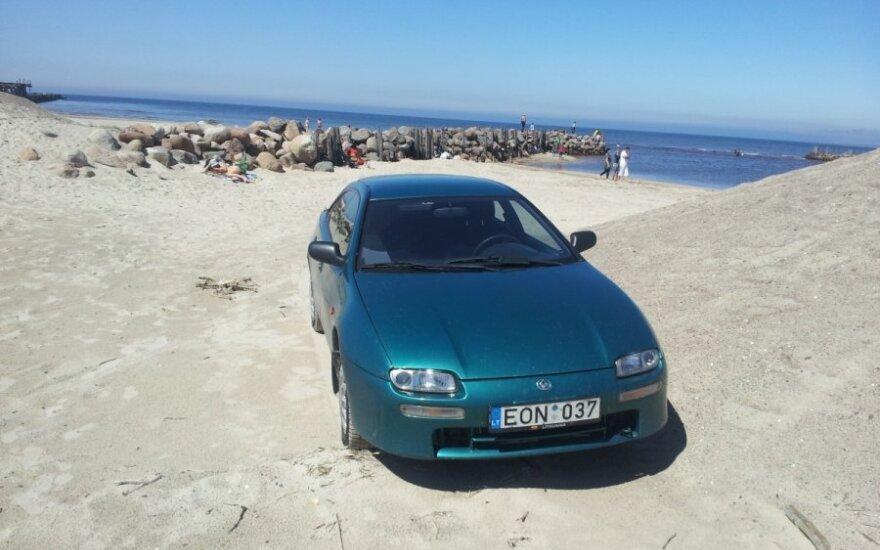 """Savaitės """"Baudos kvitas"""": stovėjimo aikštelė - paplūdimys"""