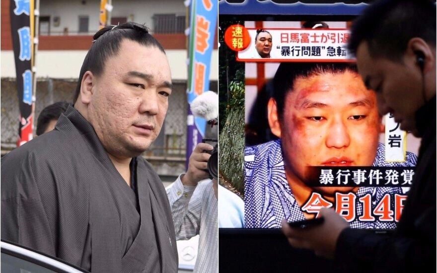 Harumafudžis vieno konflikto metu sunkiai sužalojo jaunesnį kolegą, bičiulį imtynininką Takanoiwą.