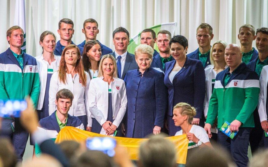 Lietuvos olimpiečių karavanas pajudėjo į Rio – sėkmės palinkėjo ir D. Grybauskaitė