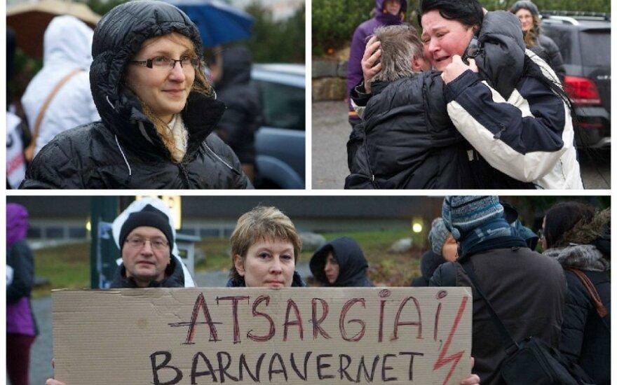 Vaikų Norvegijoje netekusiems tėvams įsižiebė viltis