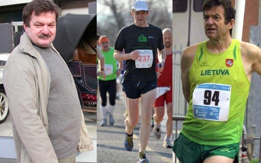 Prieš septynerius metus Povilas Ramoška (nuotr. kairėje) turėjo bėdų dėl antsvorio, tačiau pradėjęs bėgioti palaipsniui atrado naują gyvenimą