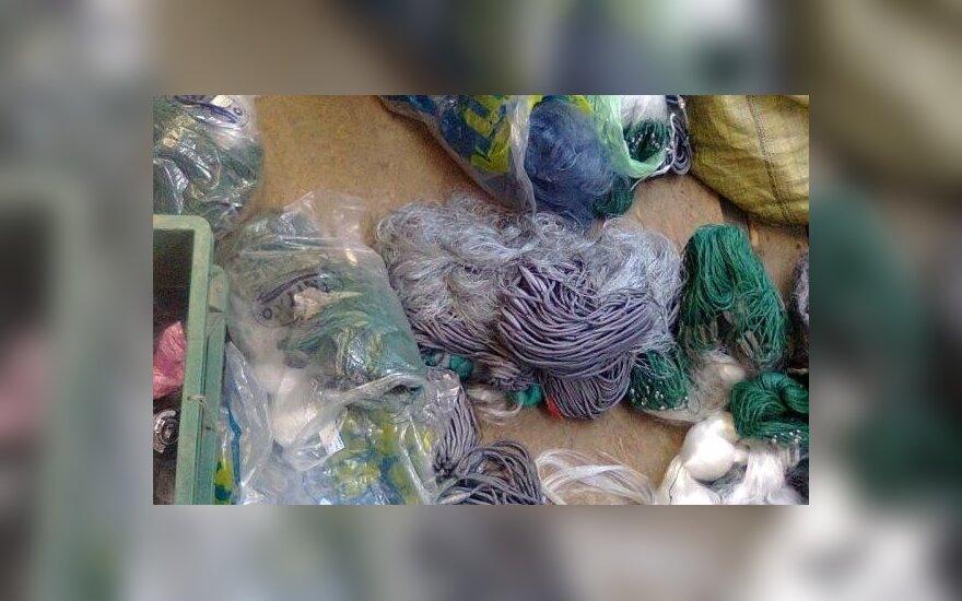Aplinkosaugininkų konfiskuoi tinklai