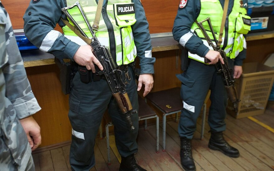 Lithuanian police discarding Kalashnikov rifles after two unfortunate incidents