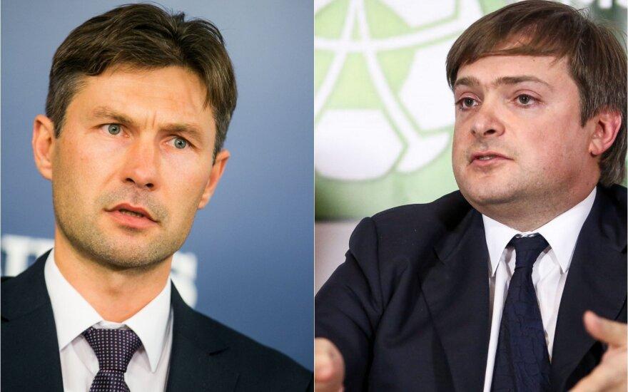 Advokatas Darius Raulušaitis ir Aušrys Labinas