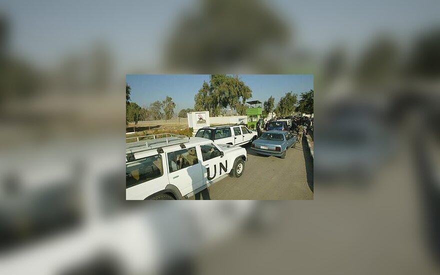 Jungtinių Tautų ginklų inspektorių automobilis