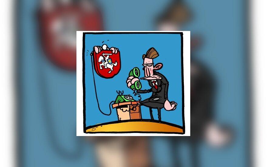 Rolandas Paksas - karikatūra