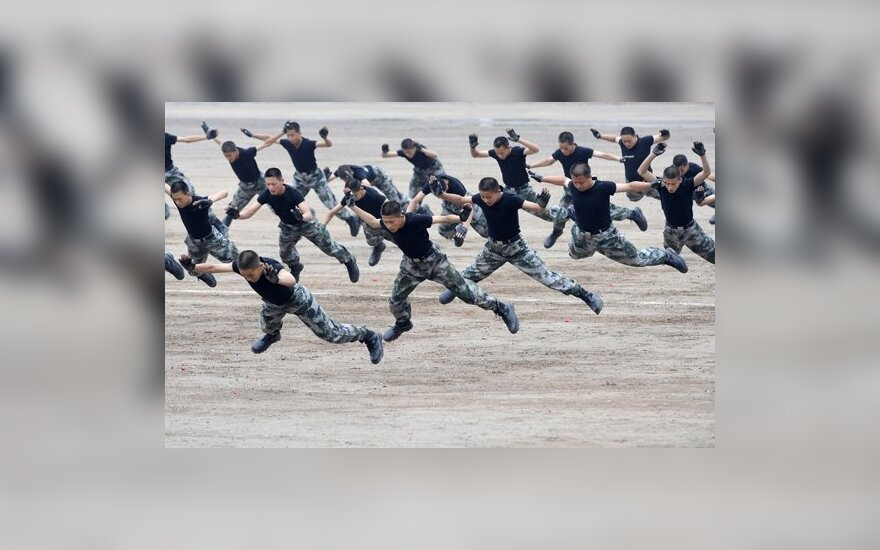 Treniruojasi Kinijos kariai