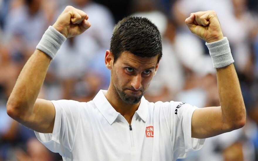 """US Open"" finale susigrums N. Djokovičius ir S. Wawrinka"