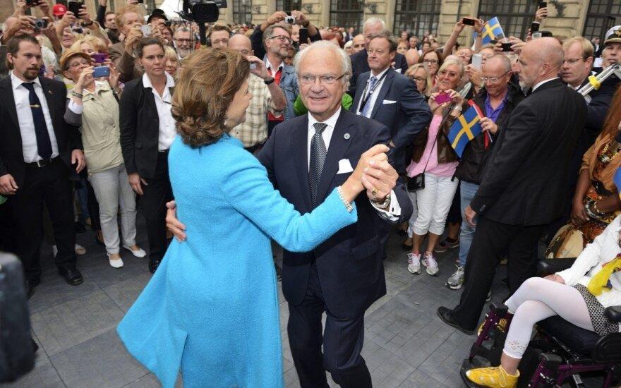 Švedijos karalius paminėjo 40 metų karūnavimo sukaktį