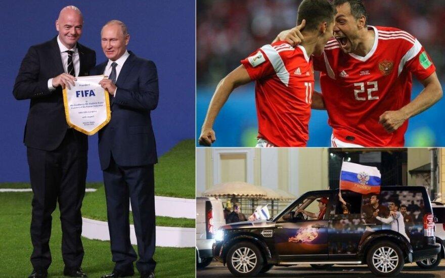 Be analogų: Rusijos rinktinei aštuntfinalio varžovą gali parinkti burtai
