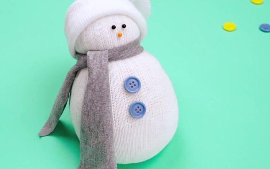 Sniego senis iš kojinės
