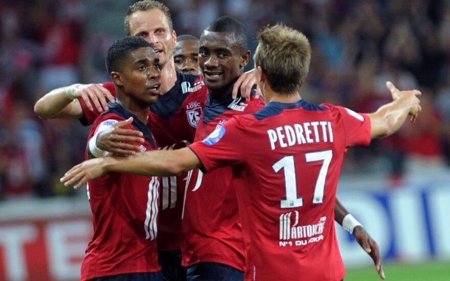 """""""Lille"""" futbolininkai džiaugiasi įvarčiu"""
