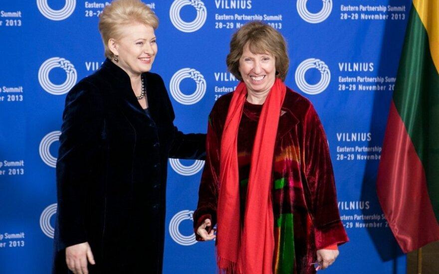 D. Grybauskaitė ir C. Ashton