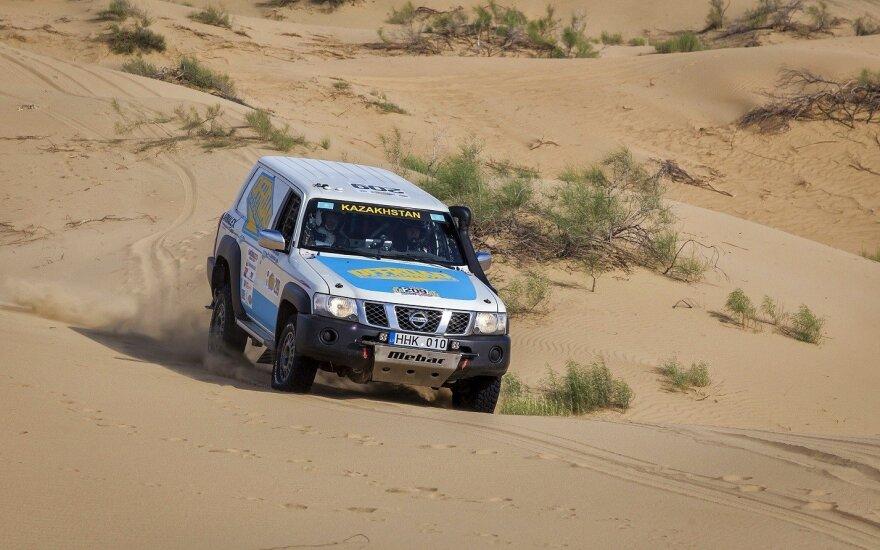 A. Juknevičius sėkmingai startavo Kazachstano ralyje