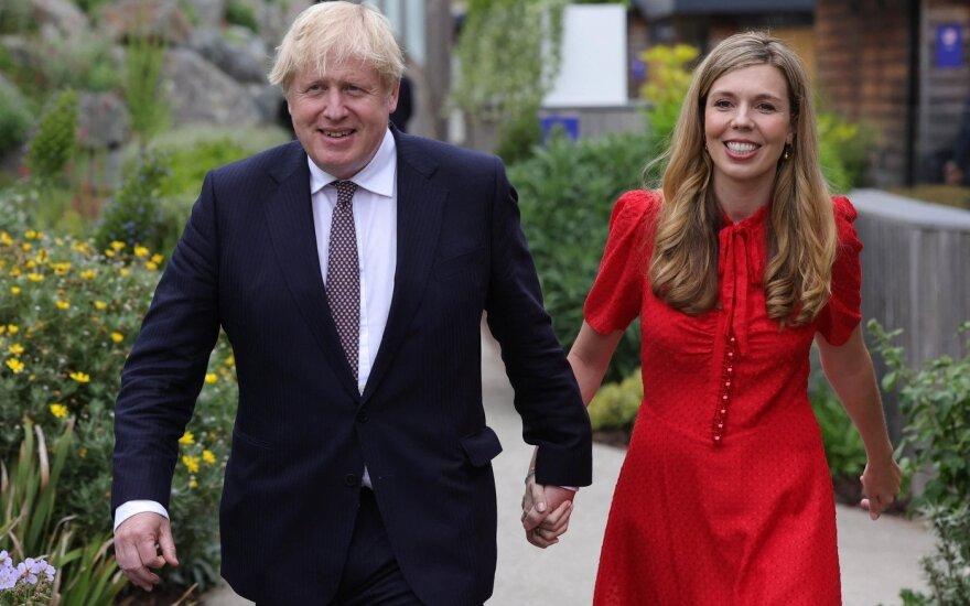 Boris Johnson su žmona Carrie