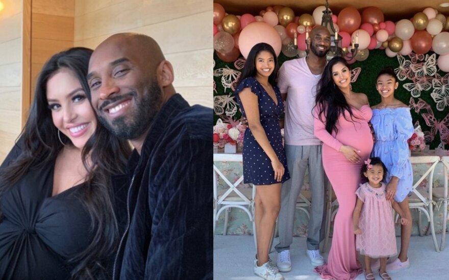 Kobe Bryantas su šeima