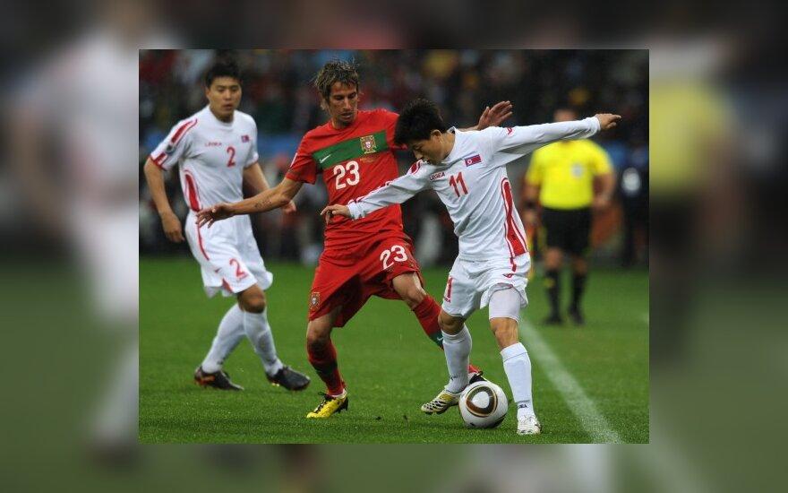 Portugalijos ir Š. Korėjos rungtynių akimirka