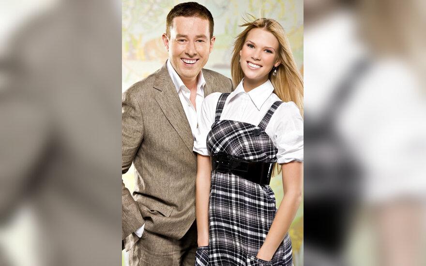 """Džiugas Siaurusaitis ir Aistė Paškevičiūtė, TV3 laida """"Skylė sienoje"""""""