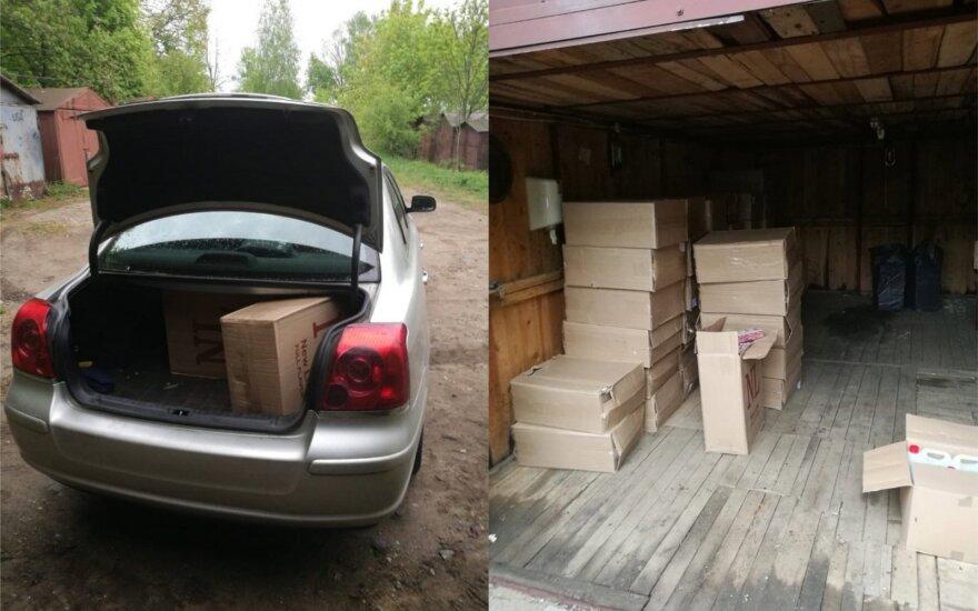 Kaunietis išties prisidirbo: garažuose ir namuose aptikti kontrabandos sandėliai