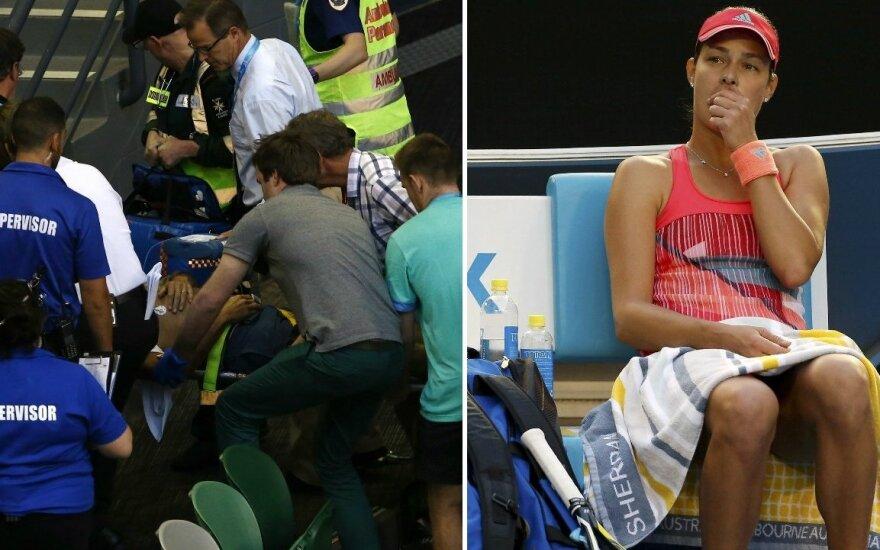 Teniso mačo metu Australijoje nualpo Anos Ivanovič treneris (Reuters nuotr.)