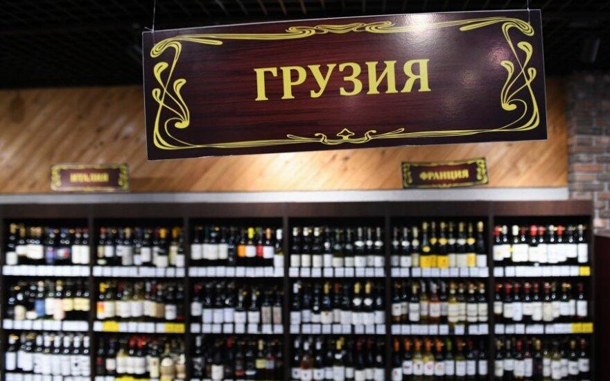 Sakartveliškas vynas Rusijos parduotuvėje