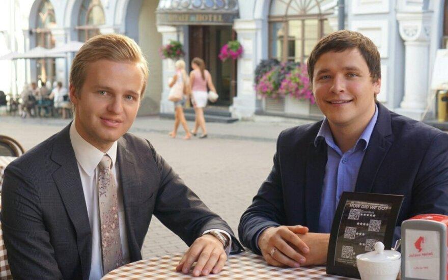 """Startuolio """"Beirate"""" įkūrėjai: kairėje Paulius Sriubiškis, dešinėje - Liutauras Medžiūnas"""