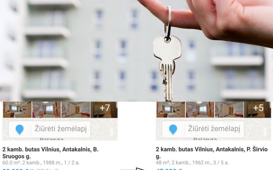Pavogtomis nuotraukomis parduoda butą