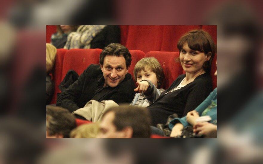 Dainius Kazlauskas su šeima