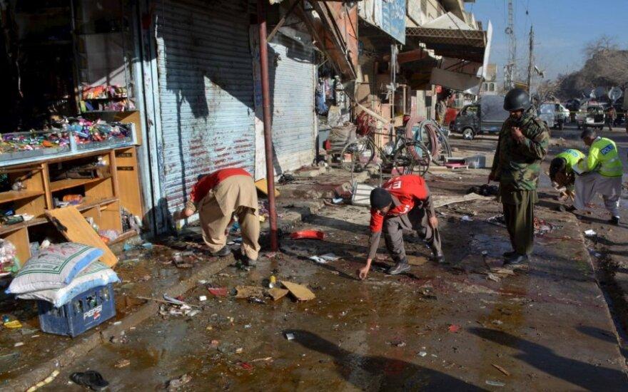 Šiaurės vakarų Pakistane viešbutyje driokstelėjus sprogimui žuvo penki žmonės