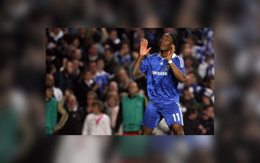 """""""Chelsea"""" pateikė apeliaciją dėl D.Drogba ir J.Bosingwos diskvalifikacijų"""