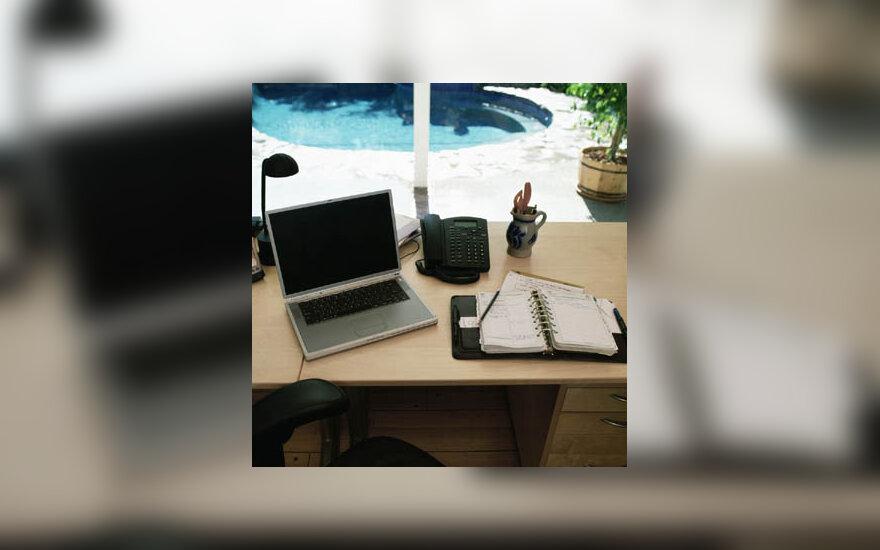 ofisas, darbas, kompiuteris, verslas