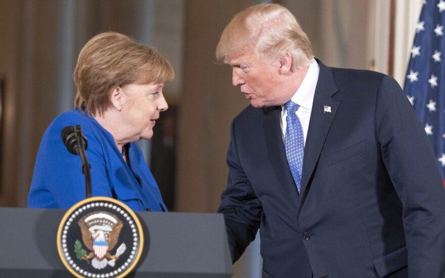 Angela Merkel, Donaldas Trump