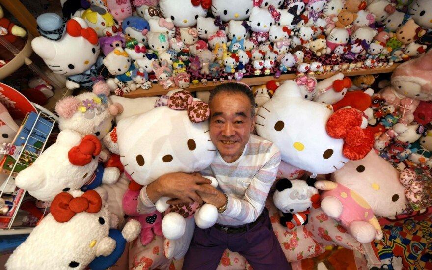 """Japonijoje buvęs policininkas surinko didžiausią pasaulyje """"Hello Kitty"""" kolekciją"""
