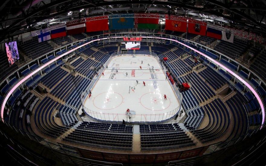 Be žiūrovų trumpai vykdytos KHL atkrintamosios varžybos apskritai sustojo