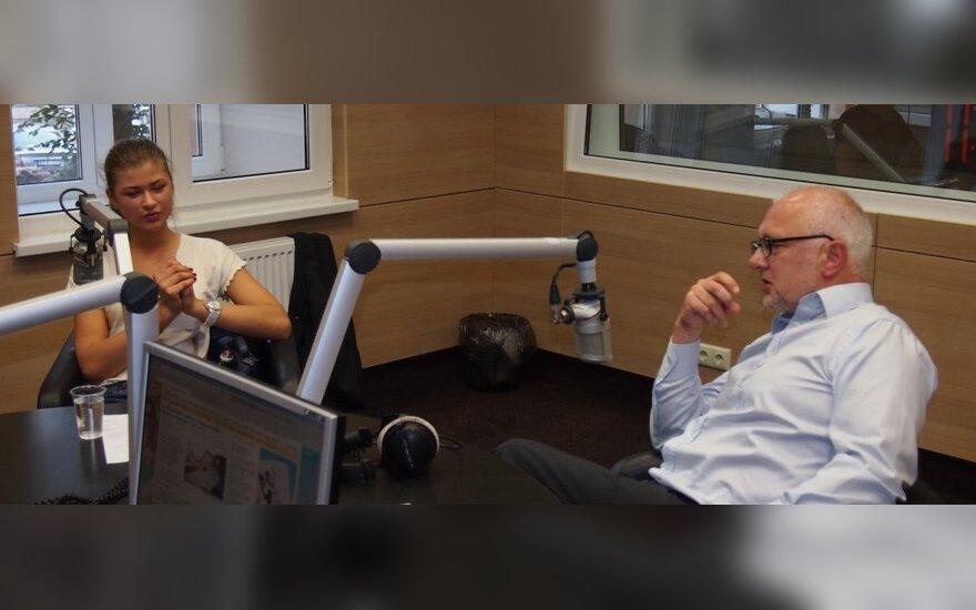 Agota Sakalauskaitė ir Dainius Pavalkis, Žinių radijo nuotr.