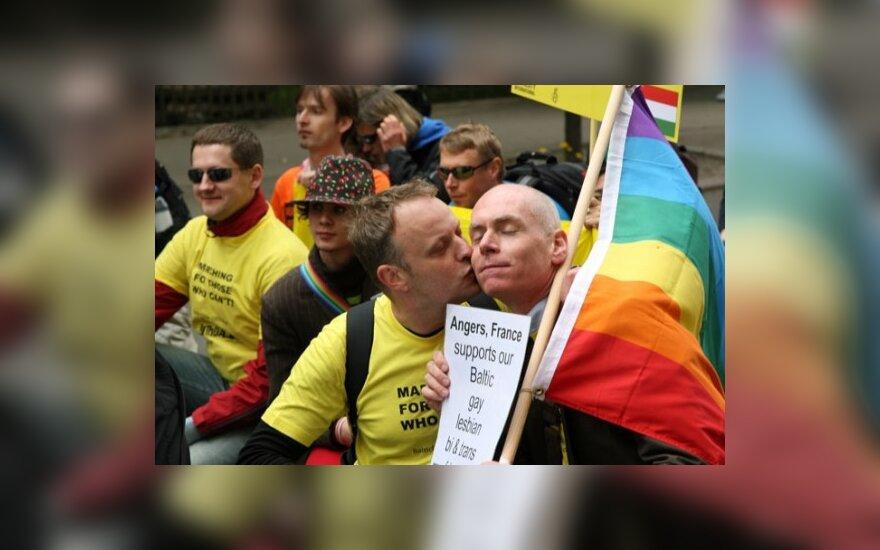 """Gėjų parado """"Baltic Pride"""" dalyviai, Latvija"""