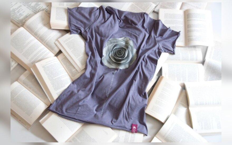 """""""Knygų mugės"""" marškinėliai T-Quote (L.Butkutės nuotr.)"""