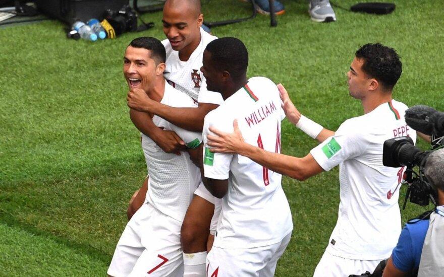 Rekordinis Ronaldo įvartis pražudė kovingus marokiečius