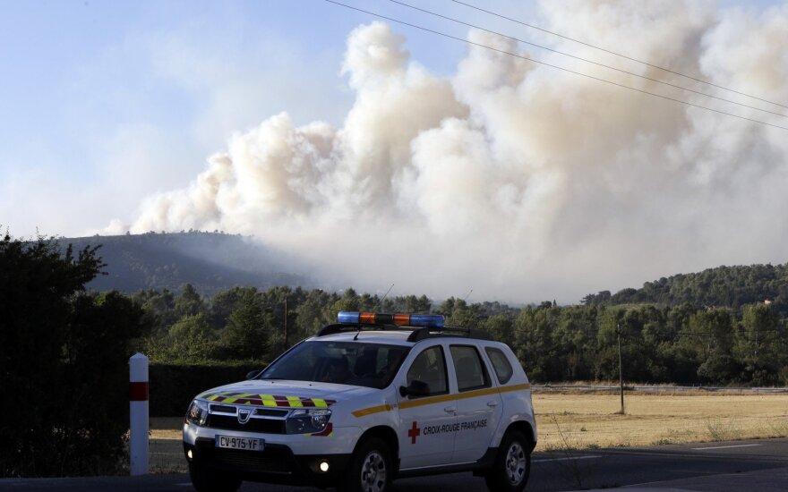 Miškų gaisrai Pietų Prancūzijoje