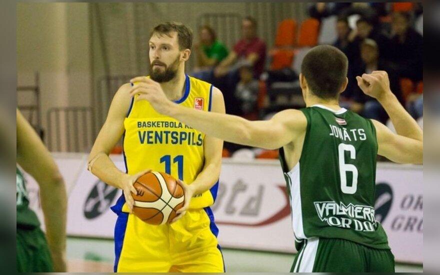"""E. Želionio indėlis į """"Ventspils"""" komandos pergalę - 21 taškas ir 12 atkovotų kamuolių"""
