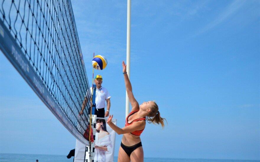 Klaipėdoje paaiškėjo Lietuvos jaunių paplūdimio tinklinio čempionai / Foto: Augusta Orinkaitė