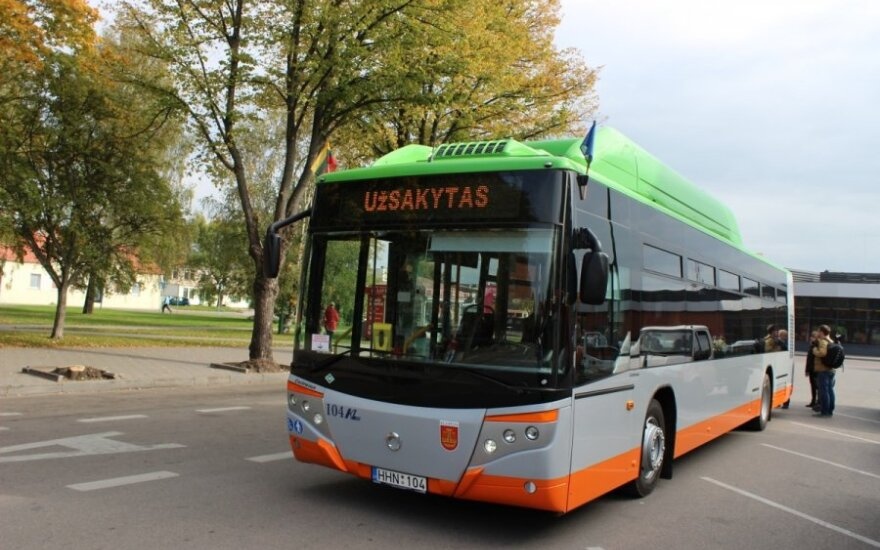 Keleivius mieste vežios ekologiškais autobusais