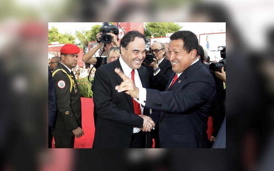 Hugo Chavezas ir Oliveris Stone'as
