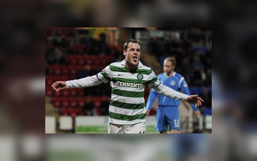 """Anthony Stokesas (""""Celtic"""") pelnė du įvarčius"""