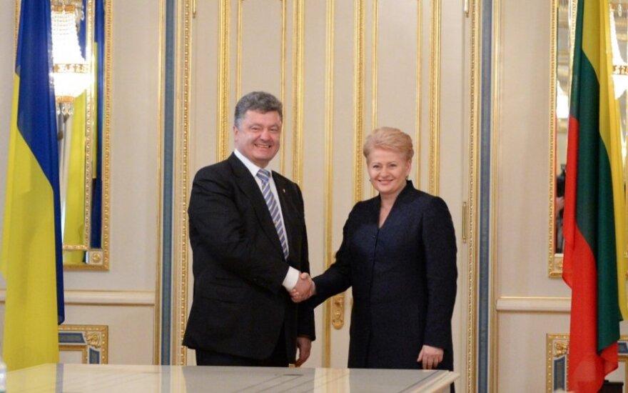 Petro Poroshenko and Dalia Grybauskaitė