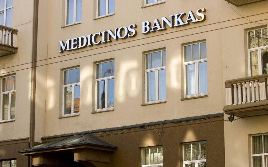 Medicinos bankas per devynis mėnesius uždirbo 2,63 mln. eurų pajamų